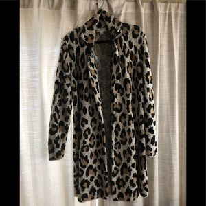 Jackets & Blazers - Leopard cardigan/coat